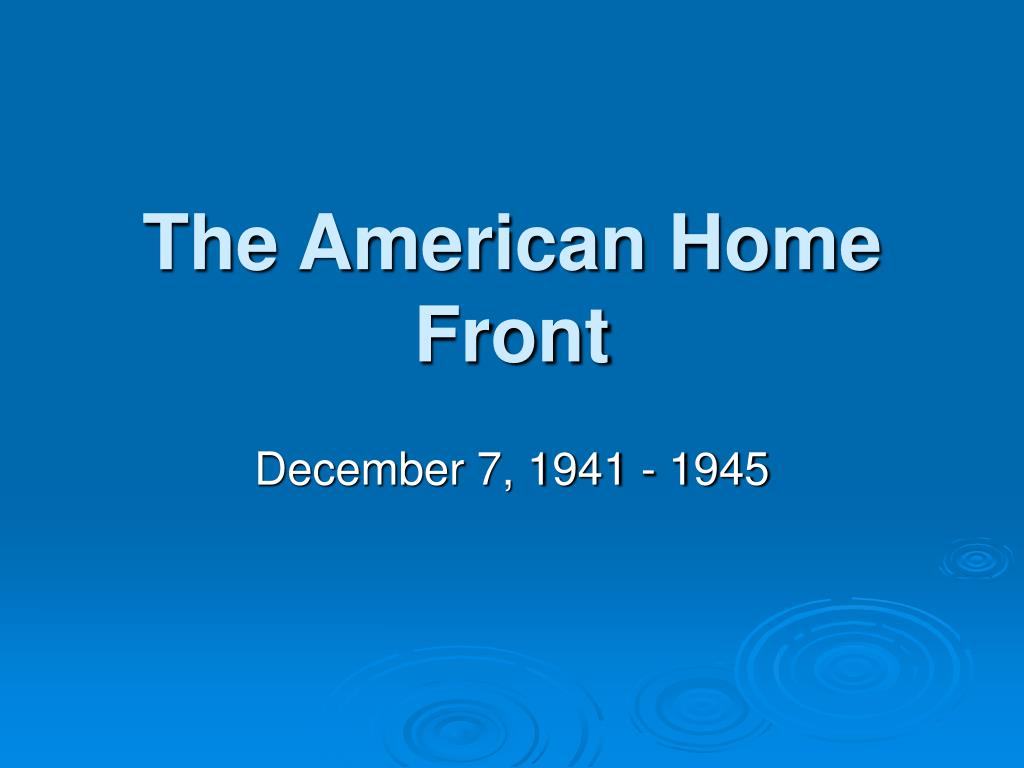 the american home front l.