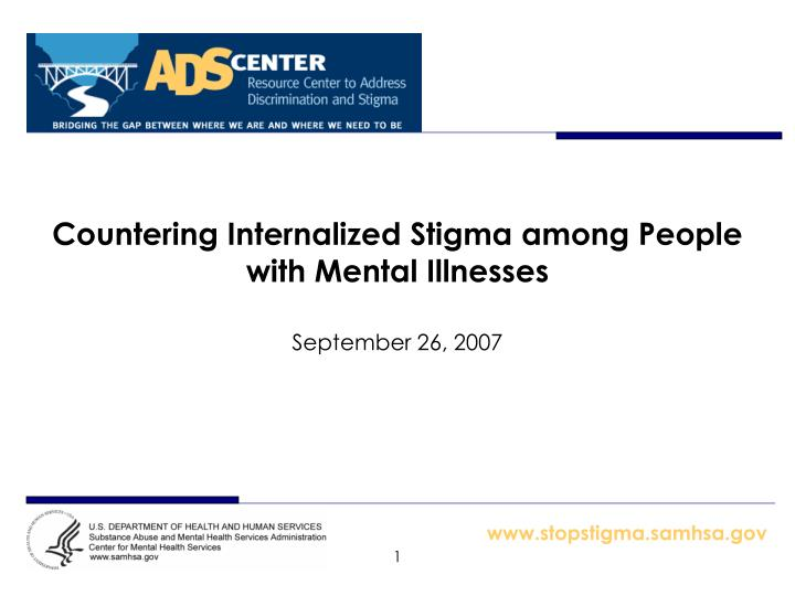 countering internalized stigma among people with mental illnesses n.