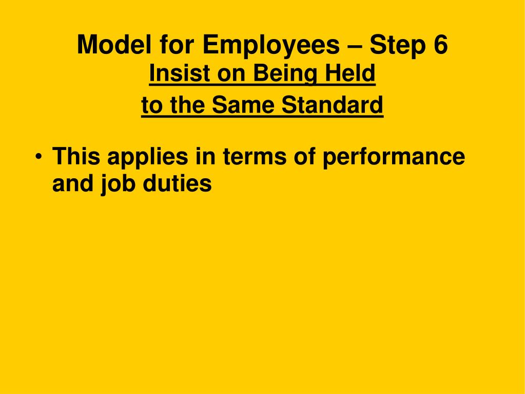 Model for Employees – Step 6