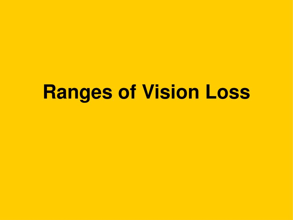 Ranges of Vision Loss