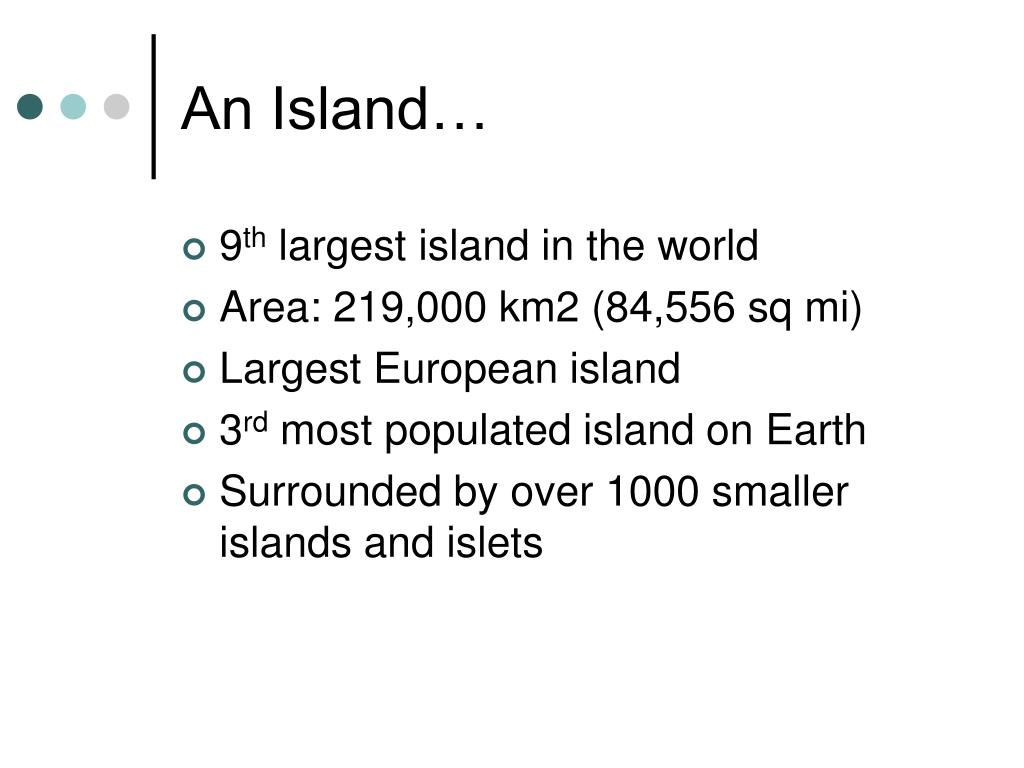 An Island…
