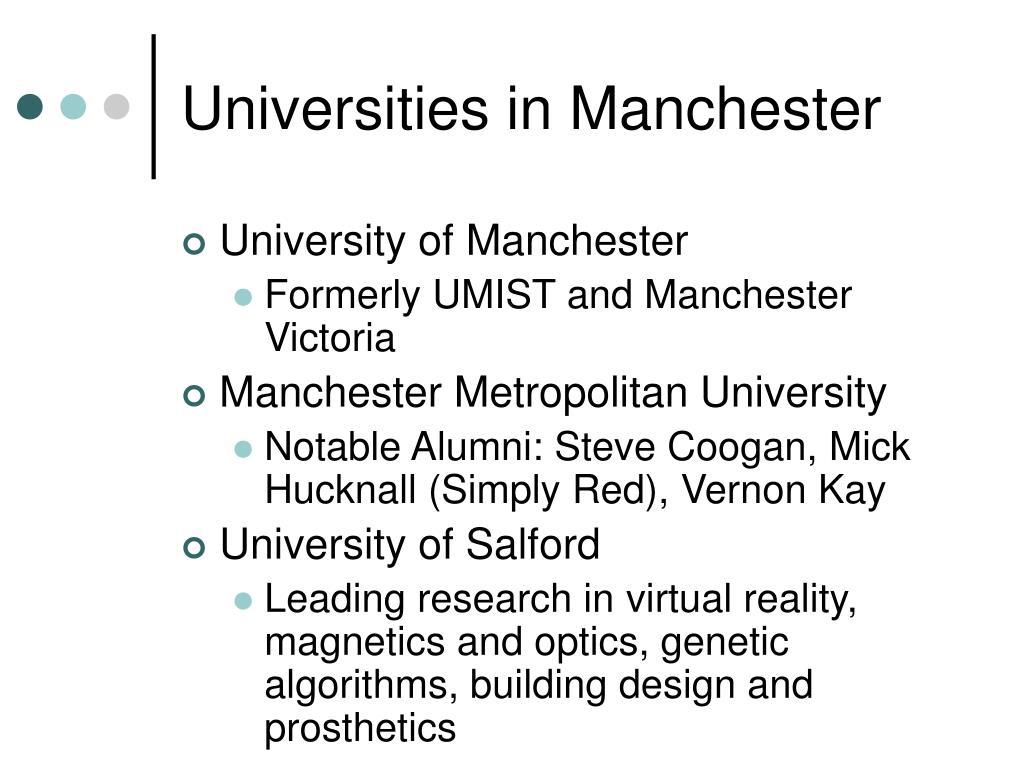 Universities in Manchester