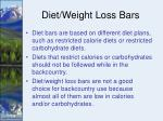 diet weight loss bars
