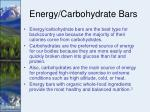 energy carbohydrate bars
