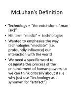 mcluhan s definition