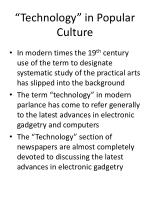 technology in popular culture