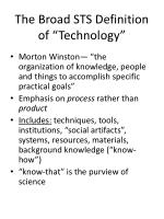 the broad sts definition of technology