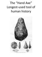 the hand axe longest used tool of human history