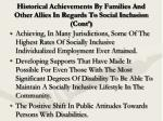 historical achievements by families and other allies in regards to social inclusion cont10