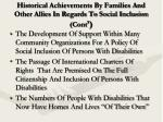 historical achievements by families and other allies in regards to social inclusion cont12