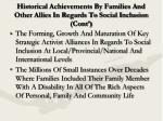 historical achievements by families and other allies in regards to social inclusion cont7