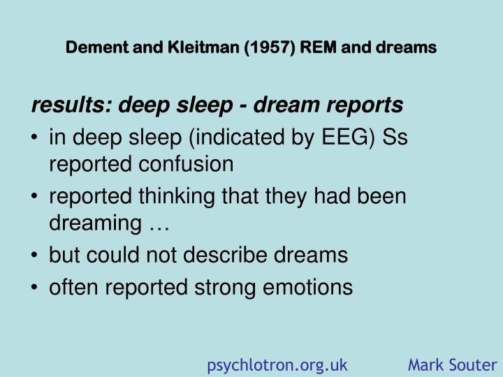 dement and kleitman