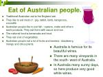 eat of australian people
