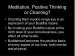 meditation positive thinking or chanting16