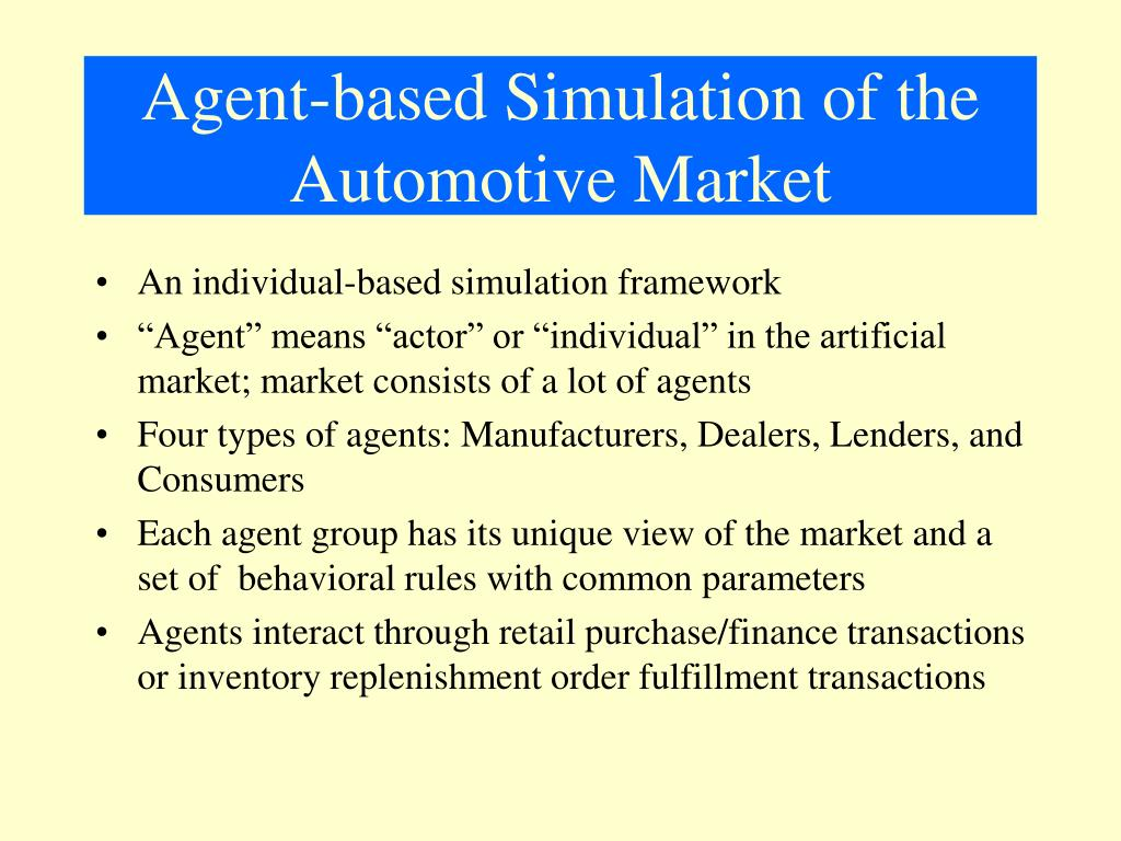 Agent-based Simulation of the Automotive Market