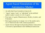 agent based simulation of the automotive market