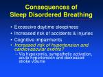 consequences of sleep disordered breathing