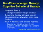non pharmacologic therapy cognitive behavioral therapy