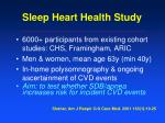 sleep heart health study