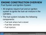 engine construction overview fuel system and ignition system