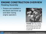 engine construction overview rotating assembly