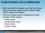 four stroke cycle operation