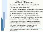 action steps cont