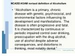 ncadd asam revised definition of alcoholism