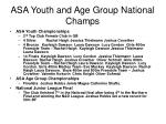 asa youth and age group national champs