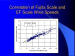 correlation of fujita scale and ef scale wind speeds