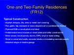 one and two family residences fr12