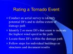 rating a tornado event