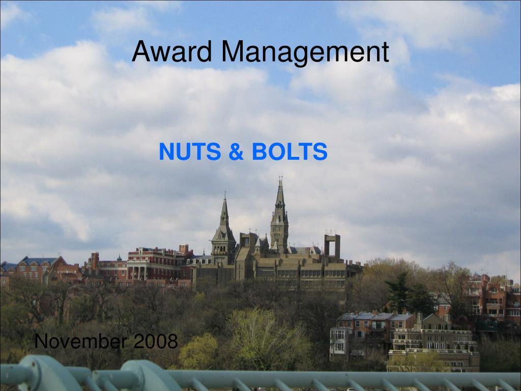 award management l.