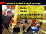 informal rehab requirements