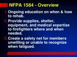 nfpa 1584 overview
