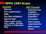 nfpa 1584 scope