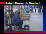 rehab research needed