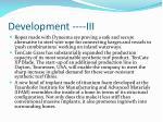 development iii
