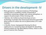 drivers in the development iv