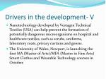 drivers in the development v