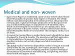 medical and non woven