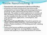 textile nanofinishing ii