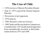 the case of chile