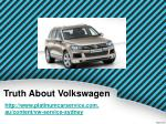 truth about volkswagen