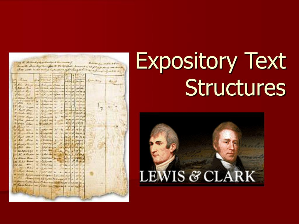 expository text structures l.