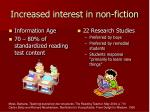 increased interest in non fiction