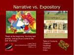 narrative vs expository