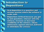 introduction to depositions