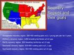 recovery regions and their goals