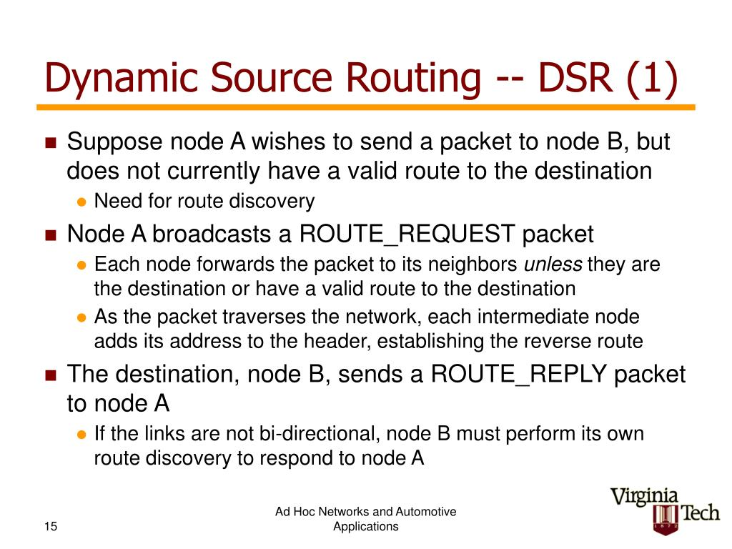 Dynamic Source Routing -- DSR (1)